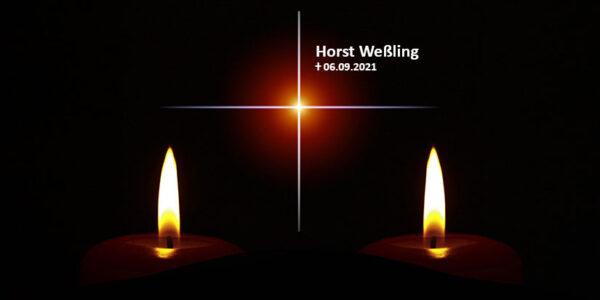 Horst Weßling verstorben